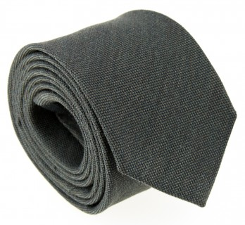 Khaki Green Wool and Silk Tie - Brisbane II