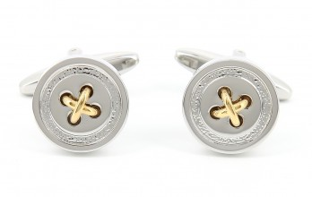 Silver and gold cufflinks - Baltimore