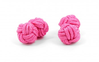 Candy pink silk knots - Bombay