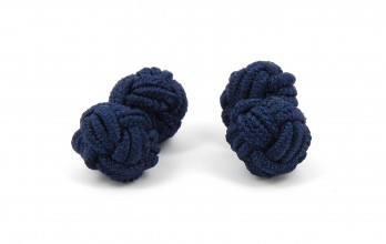Navy blue silk knots - Bombay