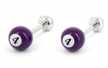 Violette billiard ball cufflinks - Blackpool 4