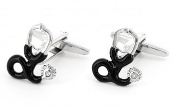 Stethoscope cufflinks - Kos