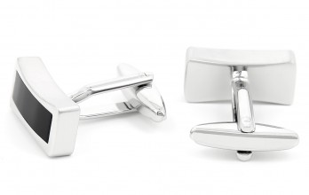 Rectangular onyx cufflinks - Tuileries