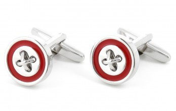 Carmine red cufflinks - Baltimore