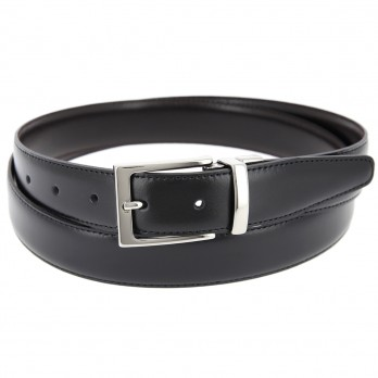 Reversible belt in black and brown - James