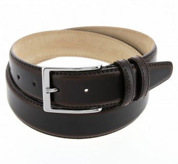 Dark brown belt leather - Daniel