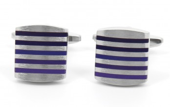 Squared, purple cufflinks - Kobe II