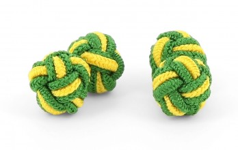 Green and yellow silk knots - Bombay