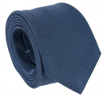 Steel Blue Grenadine Silk Tie - Grenadines IV