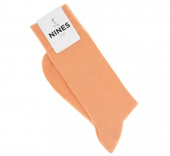 Combed cotton socks in coral