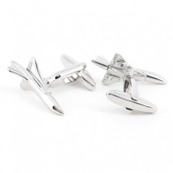 Airplane cufflinks - Concorde silver