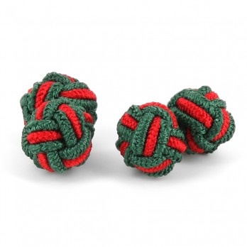 Green and red silk knots - Bombay