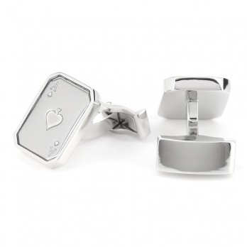 Playing Cards cufflinks - Ace of Spades III