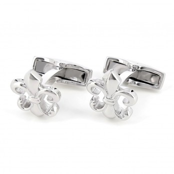 Lily sterling silver cufflinks - Saint Louis