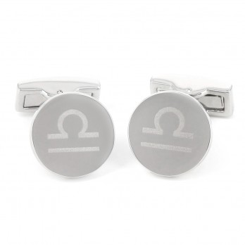 Round engravable sterling silver cufflinks - Montevideo