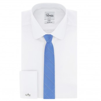 Blue tie with fine stripes The Nines