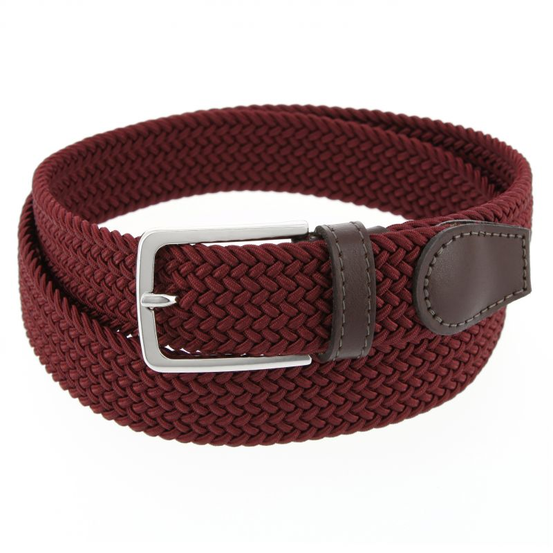 RED ELASTIC BRAIDED III BELT