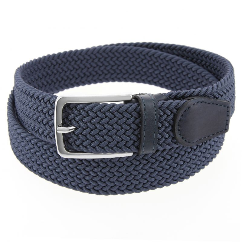 KLEIN BLUE ELASTIC BRAIDED III BELT