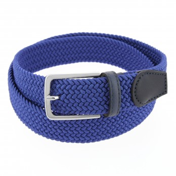Elastic braided belt in electric blue - Rob III