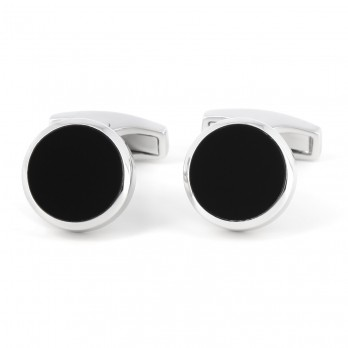 Onyx sterling silver cufflinks - Saint-Honoré