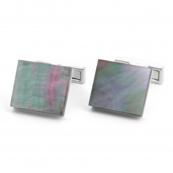 Rectangular mother of pearl cufflinks - Manado