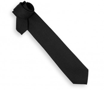 Black Grenadine Silk Tie - Grenadines III
