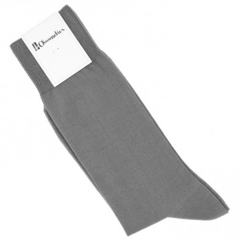 Combed cotton socks in grey
