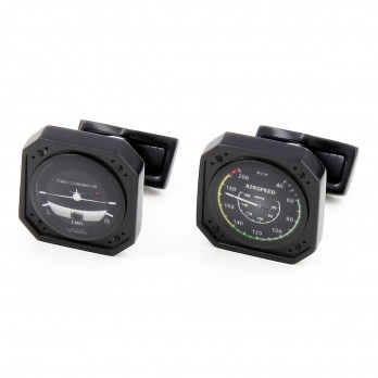 Airspeed and Turn Indicators Cufflinks - Newark