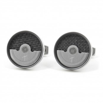 Silver watch movement cufflinks - Lugano