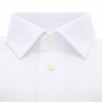 White Japanese collar shirt in twill extra slim fit