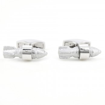 Cufflinks in solid silver and recycled bombs - Xiengkhuang