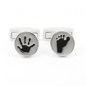 Round baby hand foot Cufflinks - Algarve