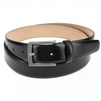 Black leather belt - Ben