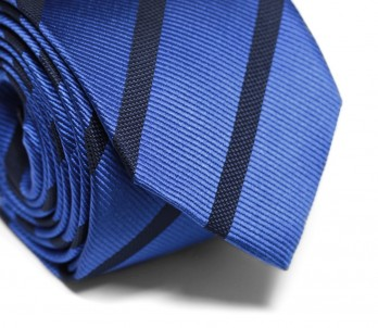 Blue Tie with Navy Blue Stripes - Colombus
