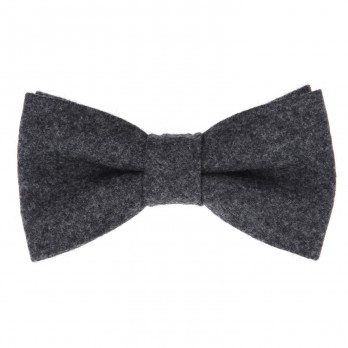 Grey Bow Tie in Flannel