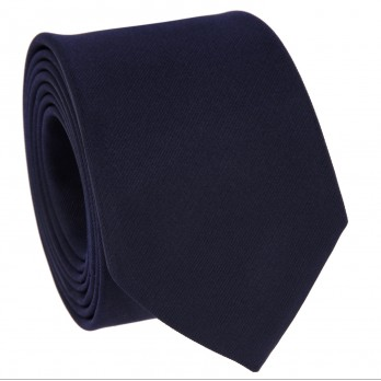 Dark Blue Slim tie in Silk - Côme