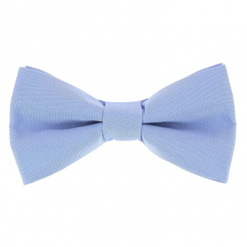 Light Blue Bow Tie in Silk - Côme