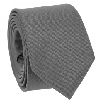 Grey Tie in Silk - Côme