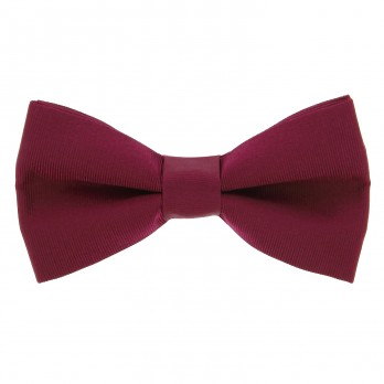 Raspberry Bow Tie in Silk - Côme