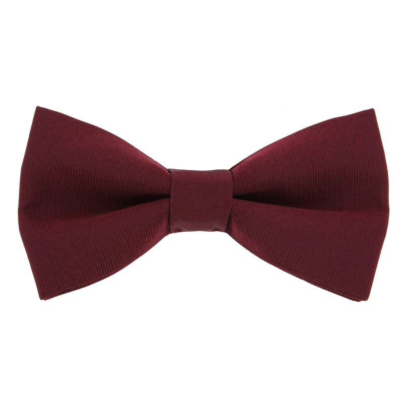 Burgundy Bow Tie in Silk - Côme