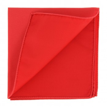 Coral Red Pocket Square in Silk - Côme