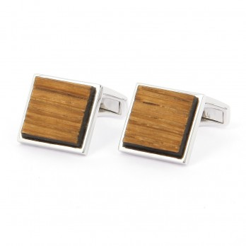 Silver squared Chevreuse cufflinks