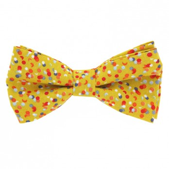 Yellow Bow Tie Confetti Pattern