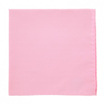 Light Pink Pocket Square in Silk