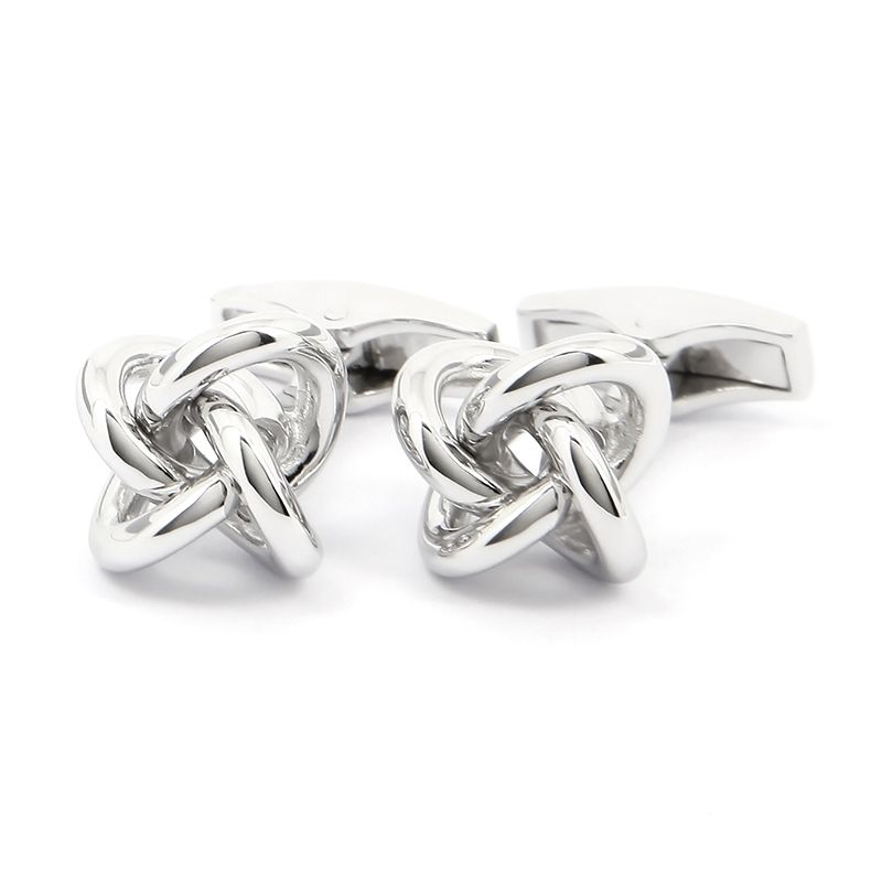Sailing knot solid silver cufflinks - Champs Elysées