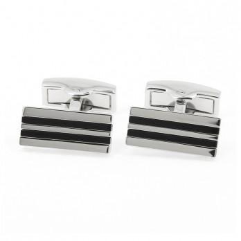 Onyx Cufflinks - Manhattan