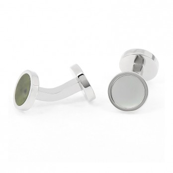 Mother of pearl and marble cufflinks - Fidji