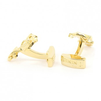 Golden Anchor Cufflinks with Rope