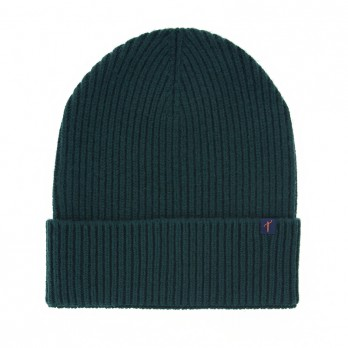Dark Green Beanie with Merino Wool and Cashmere