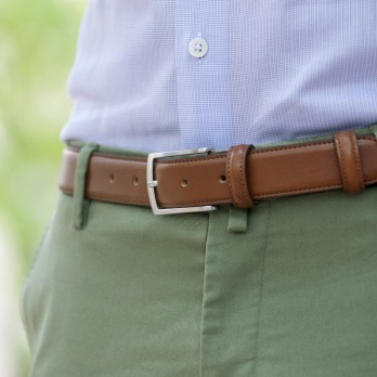Cognac leather belt - Ugo